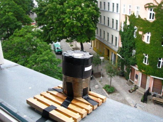 sténopé en action aux Lichtenberg Studios, Berlin, 2012